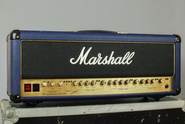 Marshall 6100 30th Anniversary Head Blue Tolex 1992